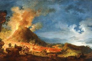 Vesuvius Erupting, with Sightseers in the Foreground by Pierre Jacques Volaire