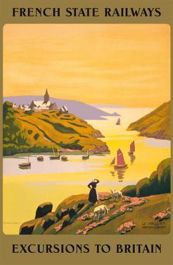 Excursions to Britain - French State Railways by Pierre Ladureau
