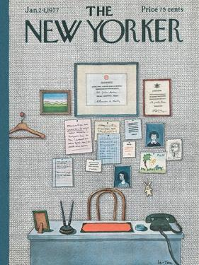 The New Yorker Cover - January 24, 1977 by Pierre LeTan