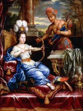 An Allegory of America Paying Homage to Europe by Pierre Mignard