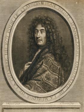Portrait of the Composer Jean-Henri D'Anglebert (1629-169), 1689 by Pierre Mignard