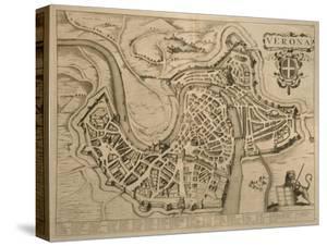 Map of Verona, from 'Les Villes De Venetie', 1704, Published by Pierre Mortier in Amsterdam by Pierre Mortier