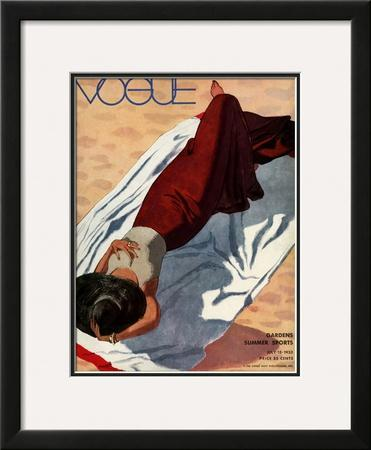 Vogue Cover - July 1933 by Pierre Mourgue