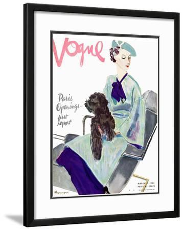 Vogue Cover - March 1935 by Pierre Mourgue