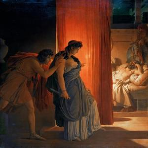 Clytemnestra Hesitates before Killing the Sleeping Agamemnon by Pierre Narcisse Guérin