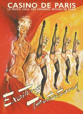 Paris Casino (Le Casino De Paris) France - Exciting Temptations - Can-Can Dancers by Pierre Okley