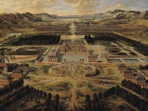 Perspective View of the Gardens and Chateau of Versailles Seen from the Paris Avenue, 1668 by Pierre Patel