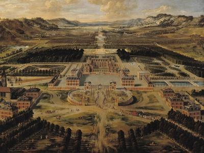 Perspective View of the Gardens and Chateau of Versailles Seen from the Paris Avenue, 1668