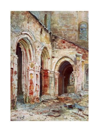 The Church of Sermaize, 1914
