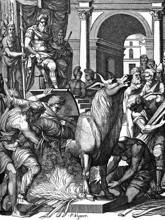 Perillus Condemned to the Bronze Bull by Phalaris, 16th Century