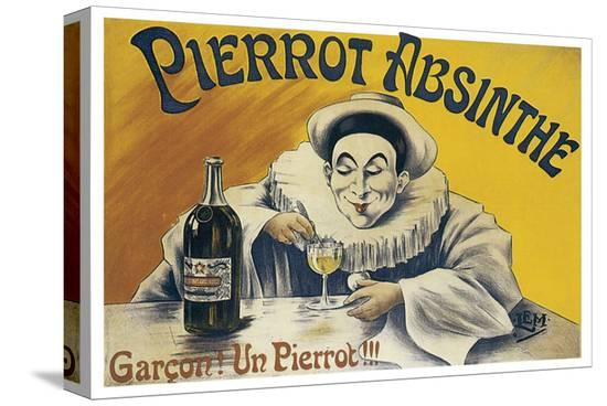 Pierrot Absinthe--Stretched Canvas Print