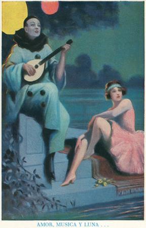 Pierrot with Mandolin