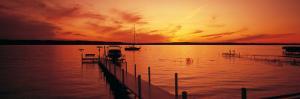 Piers on the Bay, Old Mission Peninsula, Grand Traverse Bay, Grand Traverse County, Michigan, USA