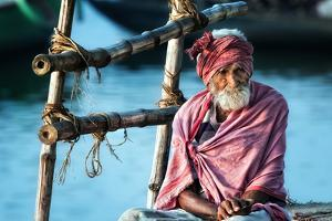 the old man and the Ganges by Piet Flour