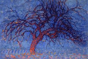 Avond (Evening): the Red Tree, 1908-10 by Piet Mondrian