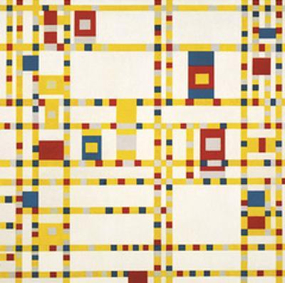 Broadway Boogie Woogie by Piet Mondrian