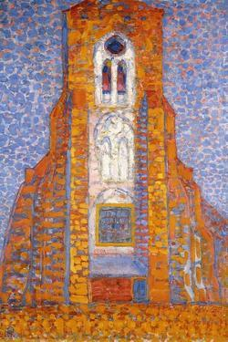 Church of Zoutelande, 1910 by Piet Mondrian