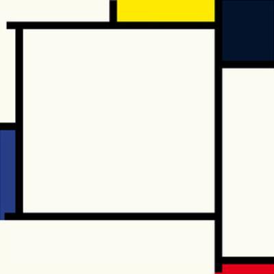 Composition 2, 1922 by Piet Mondrian