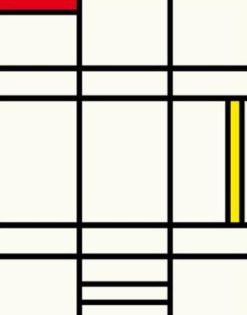 Composition avec jaune et rouge, 1938 by Piet Mondrian