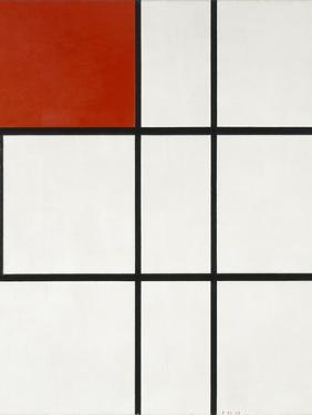 Composition B (No.II) with Red by Piet Mondrian