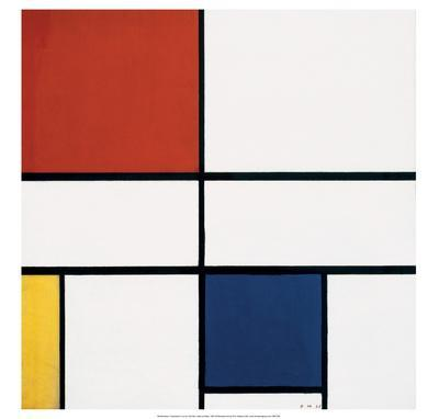 Composition C (no.III), with Red, Yellow and Blue, 1935
