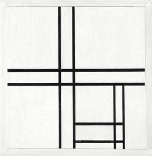 Composition in Black and White, with Double lines, 1934 by Piet Mondrian