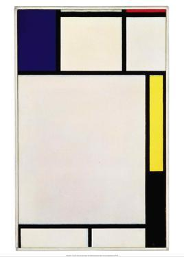 Composition in Blue, Red, Yellow and Black, 1922 by Piet Mondrian