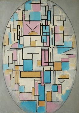 Composition in Oval with Color Planes 1, 1914 by Piet Mondrian