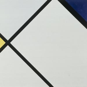 Composition No 1, 1925 by Piet Mondrian