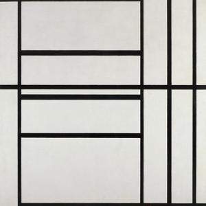 Composition No 1 with Gray and Red 1938 by Piet Mondrian
