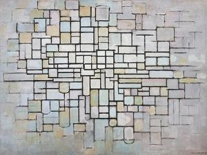Composition No 11 in Grey, Pink and Blue, 1913 by Piet Mondrian