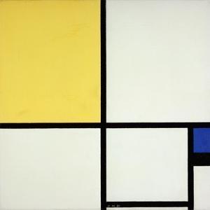 Composition with Blue and Yellow; Composition Avec Bleu Et Jaune, 1931 by Piet Mondrian