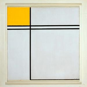 Composition with Yellow and Double Line, 1932 by Piet Mondrian