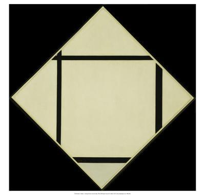 Tableau I - Lozenge with Four Lines and Gray, 1926