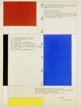 Textuel, 1928 by Piet Mondrian