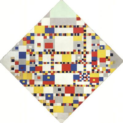 Victory Boogie Woogie (No text) by Piet Mondrian