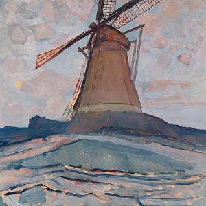 Windmill, 1917 by Piet Mondrian