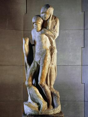 Pieta Rondanini, 1564, by Michelangelo Buonarroti (1475-1564), Marble Statue, Height 195Cm