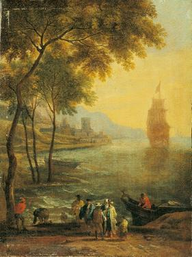 Bay with Boats and Figures by Pieter Bout and Adriaen Frans Boudewijns