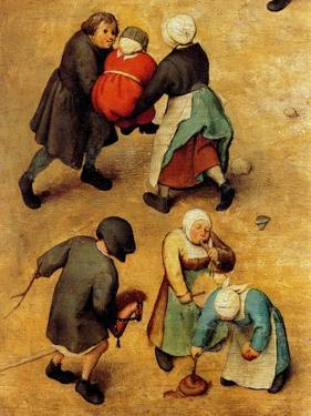 Children's Games (Detail) by Pieter Breughel the Elder