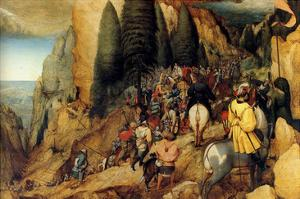 Conversion of St.Paul - Complete by Pieter Breughel the Elder