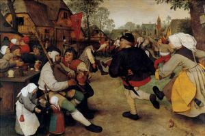Dance of the Peasants - Detail by Pieter Breughel the Elder