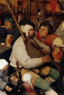 Dance of the Peasants - Detail by Pieter Breughel the Elder