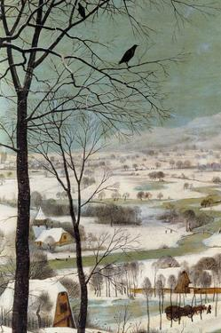 Hunters in the Snow - Detail by Pieter Breughel the Elder