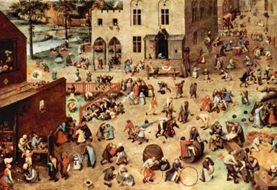 Pieter Bruegel Child's Play Art Print Poster