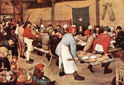 Pieter Bruegel Country Wedding Art Print Poster