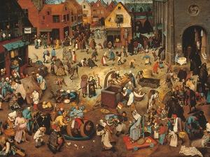 Battle Between Carnival, or Mardi Gras, and Lent by Pieter Bruegel the Elder
