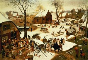 Census at Bethlehem, C.1566 (Oil on Panel) by Pieter Bruegel the Elder
