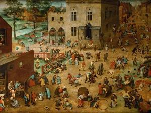 Children?S Games, 1560 by Pieter Bruegel the Elder