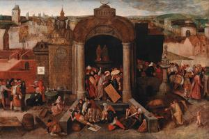 Christ Driving The Traders From The Temple by Pieter Bruegel the Elder